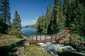 Wekusko Falls during summertime