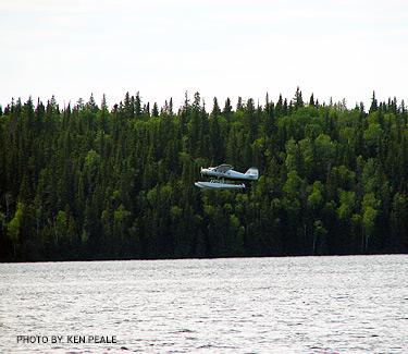 Float Plane in Snow Lake