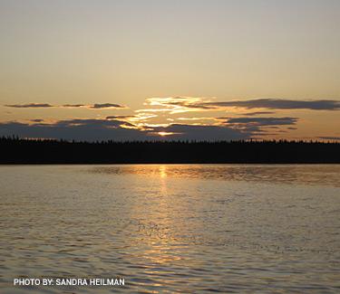 Snow Lake Sunset